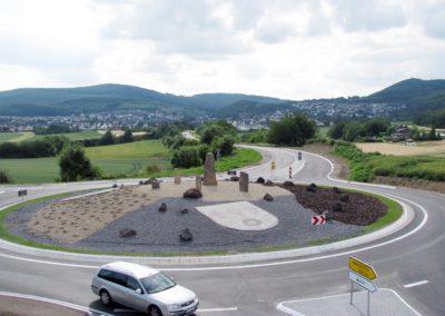 Kreisverkehr Richtung Andernach