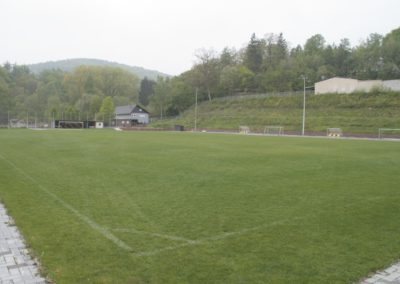 Sportplatz  mit Hybridrasen